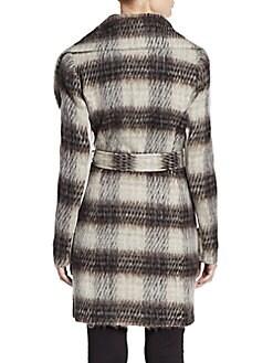 Missy Plaid Belted Coat