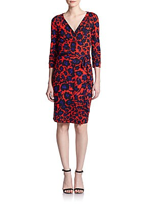 New Julian Two Floral Print Silk Wrap Dress