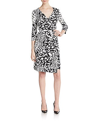 New Jeanne Floral Wrap Dress