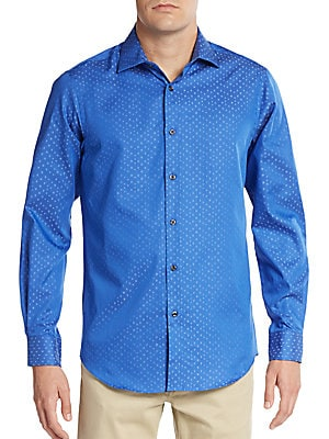 Dobby Square Cotton Sport Shirt