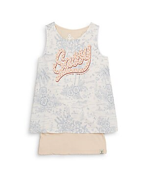 Little Girl's & Girl's Layered Graphic Tank