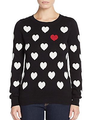 Embellished-Heart Sweater