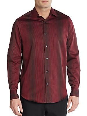Regular-Fit Hombre Striped Cotton Sportshirt