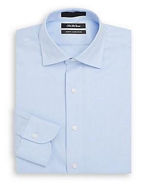 Slim-Fit Corded Stripe Dress Shirt