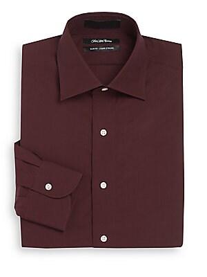 Slim-Fit Corded Stripe Sportshirt