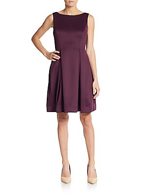 Jersey Knit Fit-And-Flare Dress