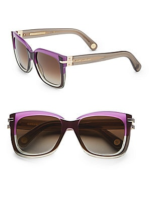 marc jacobs female oversized acetate square sunglasses