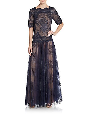 Two-Piece Lace Top & Skirt Set