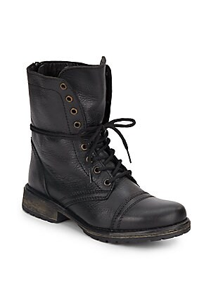 Fame Combat Leather Boots