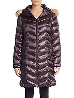 Abilene Faux Fur-Trimmed Down Puffer Coat