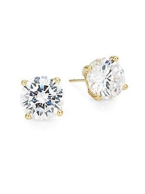 Round Stud Earrings/Goldtone