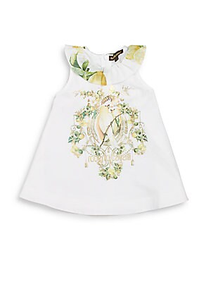 Baby's Bird-Print Dress