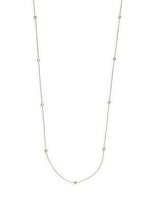 Click here for Diamond & 14K Yellow Gold Chain Necklace prices