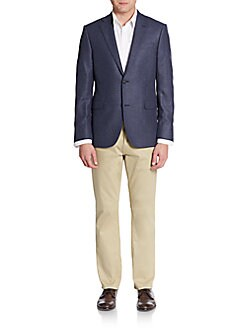 Slim-Fit Herringbone Cashmere Sportcoat