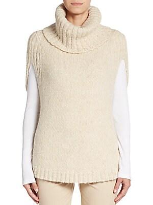 Cape-Sleeve Turtleneck Sweater