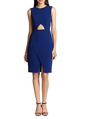 Midriff-Cutout Crepe Dress
