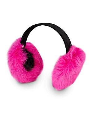 Girls Rabbit Fur Earmuffs