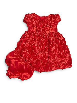 Baby's Rosette Dress & Bloomers Set