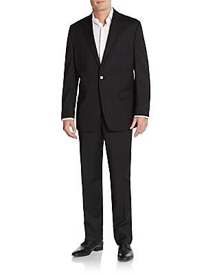 Slim-Fit Tonal Striped Wool Suit