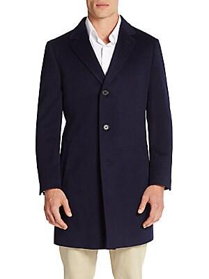Slim-Fit Wool Coat