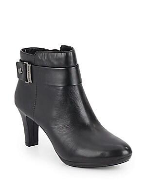 Leather Zip Booties