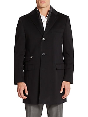 Slim-Fit Multi-Pocket Wool Coat