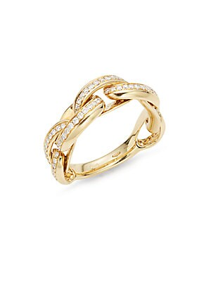 Click here for Diamond & 18K Yellow Gold Link Ring prices