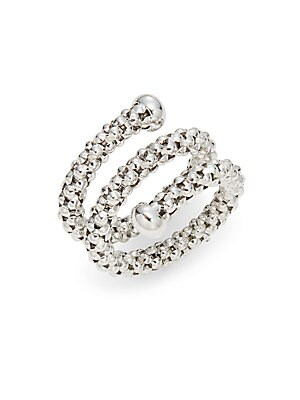 Click here for 18K White Gold Layered Stretch Ring prices