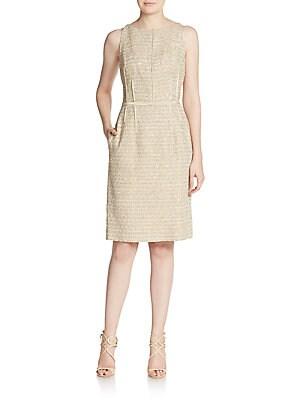Silk Sequined Sheath Dress