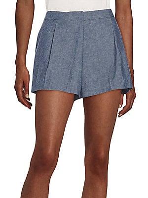 Rey Highwaisted Chambray Shorts