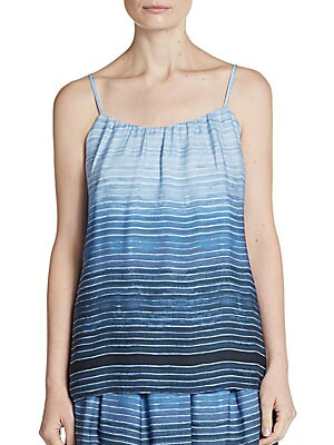 Ombré-Striped Silk Camisole