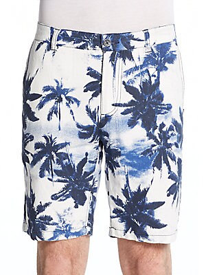 Palm Tree-Print Shorts