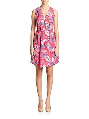 Floral-Print Cutout Dress