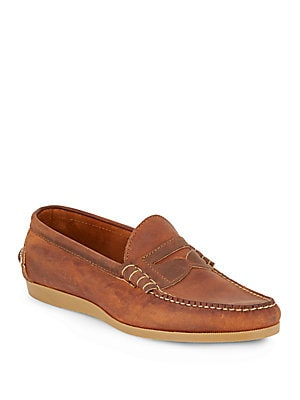 Parks Leather Boat Shoes