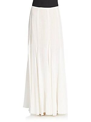 michael kors female linen godet maxi skirt