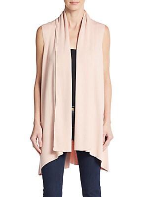 Flyaway Open-Front Sweater Vest