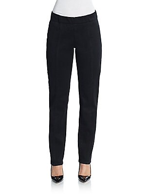 Poppy Seamed Straight-Leg Leggings