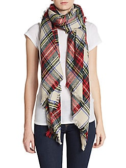 Plaid Blank Scarf