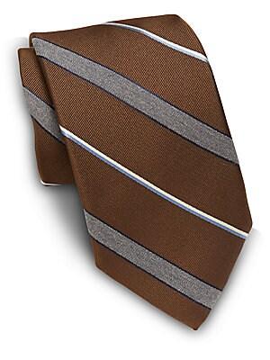 Wool Blend Striped Tie
