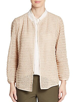 Corded Zigzag Knit Jacket