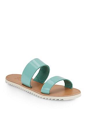 Avalon Patent Leather Double-Strap Sandals
