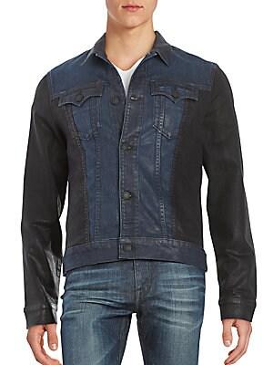 Button-Front Moto Jacket