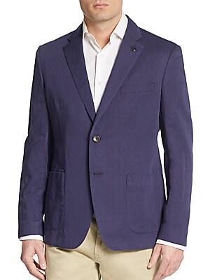 michael kors male regularfit cotton linen sportcoat