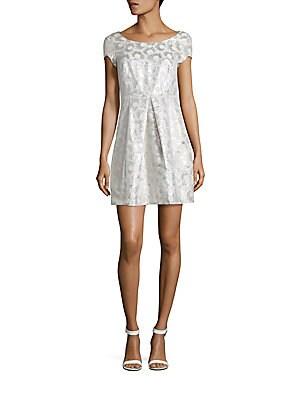 Cotton Blend A-Line Dress