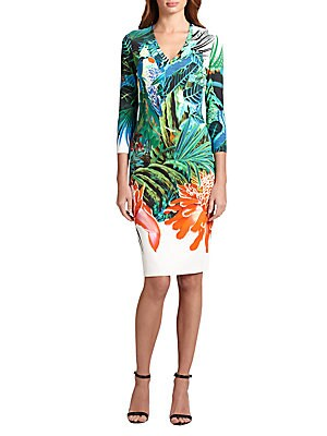 Jungle-Print Punto Dress
