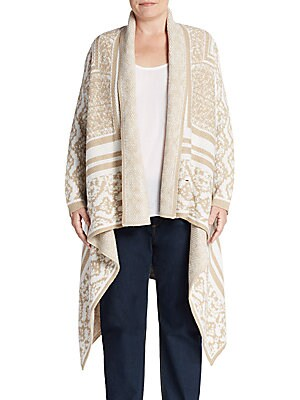 Baroque Pattern Cotton-Blend Cardigan