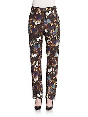 Cotton & Silk Ikat Skinny Trousers
