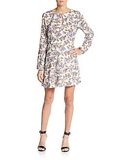 Floral Print Keyhole Dress