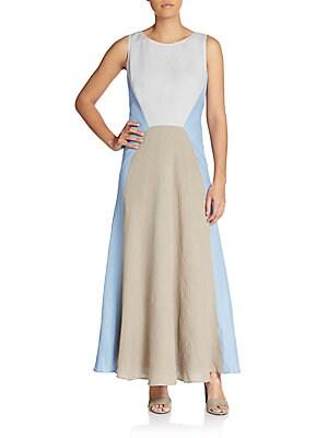 Solange Linen Maxi Dress