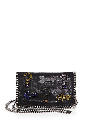 Falabella Embellished Chain Clutch